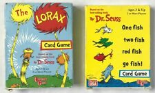 Lot of 2 1998/2001 Dr. Seuss One Fish and Lorax Card Game Based on Books