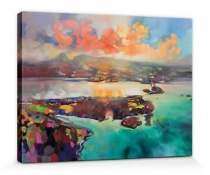 SCOTT NAISMITH canvas wall art - ready framed - 60 x 80 x 4 cm - Skye Bridge