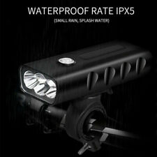 X3 1500LM CREE T6 LED Mountain Bike Light USB Rechargeable Front Rear Lamp LTop