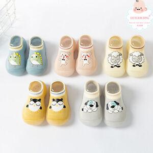 Kids' Baby Warm Toddler Anti-slip Slippers Socks Cotton Shoes 0-18 H