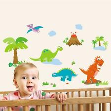 Removable Childrens Bedroom Nursery Dinosaur Dino Park Wall Stickers Decals