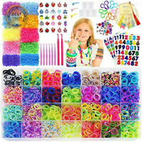 15,000 Rainbow Rubber Bands Refill Kit 56 Colors Kids Girls Bracelets Making