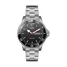 EDOX Chrono Rally S Ref. 84300-3M-NBN quartz battery black dial watch New In Box