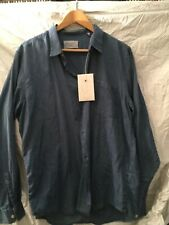 Our Legacy NWT men's  size XL/52 Blue ''Mussola' soft cotton shirt