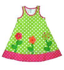 New Girls Boutique Peaches n Cream sz 18m Lime Pink FLOWER Dress Summer Clothes