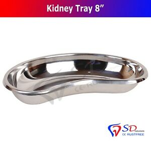 """Kidney Bowl Tray 8"""" Basin Dental and Surgical Instrument Stainless Steel New CE"""