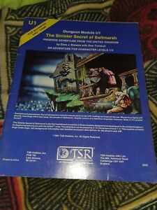 The Sinister Secret of Saltmarsh Module AD&D 1st Edition OOP