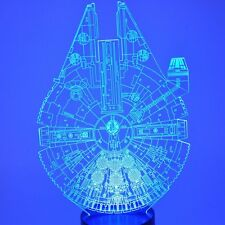 LED Star Wars TABLE LAMP Night Light 3D Illusion Falcon Multiple Colors Novelty