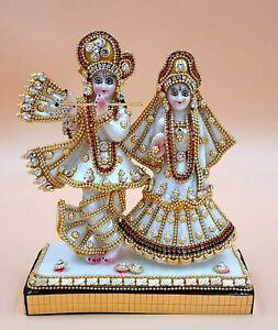 Hindu God Lord Krishna Kanha Radha Idol Sculpture Statue Figurine