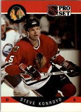 1990-91 PRO SET HOCKEY STEVE KONROYD CARD #52 CHICAGO BLACKHAWKS NMT/MT-MINT