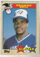 FREE SHIPPING-MINT-1987 Topps All Star George Bell Toronto Blue Jays 612