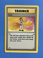 Lass 75/102 - SHADOWLESS - Rare Trainer - WOTC Base Set - Pokemon Card - NM