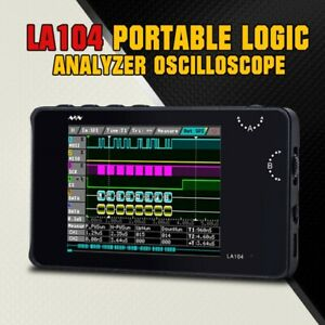 USB Programmable LA104 Portable Logic Analyzer Oscilloscope 100MHz Flash Storage