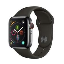 APPLE WATCH SERIES 4(GPS,CELLULAR, 40MM) CASSA ACCIAIO INOX,CINTURINO SPORT NERO