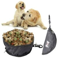 Collapsible Pet Cat Dog Bowls Food Feeder Water Bowl for Camping Travel Hiking