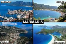 SOUVENIR FRIDGE MAGNET of MARMARIS & OLUDENIZ & ICMELER TURKEY