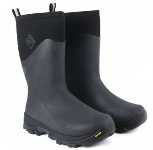 Muck Arctic Ice Extreme Mid Rubber Boots Arctic Grip Black Men's 10 US New