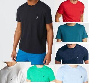 NWT Men's Nautica Short-Sleeve CrewNeck  Solid Tee (T) Shirt  XS S M L XL XXL 3X