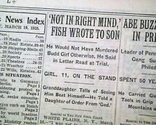 ALBERT FISH Serial Killer Child Rapist & Cannibal Trial SELF-HARM 1935 Newspaper