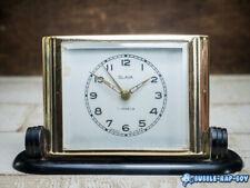 VINTAGE SLAVA ALARM CLOCK MID CENTURY USSR ART DECO STYLE DESKTOP CLOCK