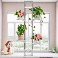 Indoor Telescopic Plant Stand 4 Tier Rack Shelf Flowers Pot Display Window Decor