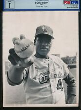 Bob Gibson 1967 St. Louis Cardinals HOF Type 1 Original Photo PSA/DNA Sun Times