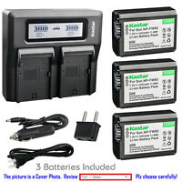 Kastar Battery LCD Dual Fast Charger for Sony NP-FW50 TRW Cyber-shot DSC-RX10M3