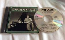 CARMEN MCRAE CD ~ CARMEN SINGS MONK - RCA