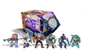 PREVIEWS EXCLUSIVE TMNT Retro Villains Mutant Module 6 Pack Figure Set! SEALED!