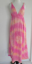Gypsy 05 Made in Hollywood CA Maxi Dress Multi-Colored Tie Dye Empire W. Size M