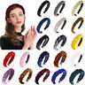 Women's Braided Twist Velvet Headband Hair Hoop Solid Headwear Party Accessories