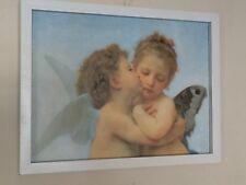 First Kiss - William Adolphe Bouguereau - 12''x16'' framed cherubs poster