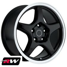 "17"" inch Wheels for Pontiac Firebird 1993-2002 Black 17x9.5"" Rims +56 offset"