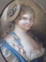 École française XVIIIe/XIXe-Tableau-dessin/pastel-Portrait jeune femme-drawing