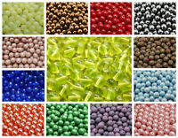 CHOOSE COLOR! 25pcs 8mm Round Pressed Beads Czech Glass