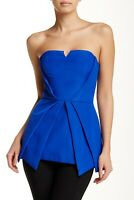 StyleStalker Size M Summer Dream Bodice Top Blue Strapless Corset Cocktail Party