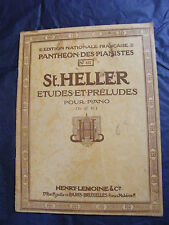 Partition Panthéon des pianistes St Heller Piano Music Sheet Grand Format