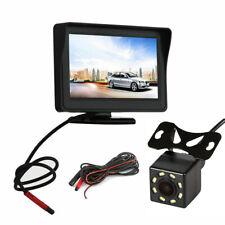 """8 LED Car HD Night Vision Reversing Camera 170°& 4.3"""" LCD Monitor Rear View Kit"""