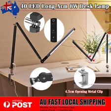 Adjustable Long Arm Desk Lamp Work Reading Clip-on LED Table Light Lamp Eye Care