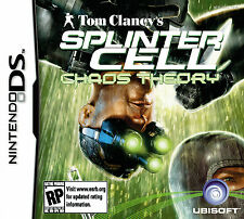 SPLINTER CELL CHAOS THEORY GIOCO NINTENDO DS DS LITE 3 DS 2 DS DSI 3 DS XL