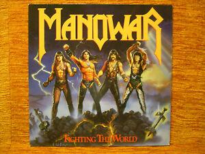 LP Manowar Fighting the World 1987 ATCO Records Beatles Queen Mick