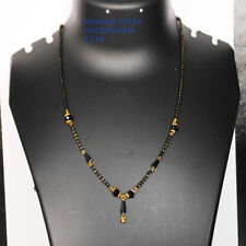 CHAIN NECKLACE GOLD PLATED ASIAN MANGAL SUTRA CHOKER CHAIN