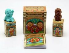 Pocket Buddha Kit of Peace & Happiness 2 figurines &40-pg book of Quotes 2 Fer 1