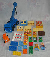 Lego Duplo Bob The Builder Lot - Bob, Spud, Lofty, Dizzy, Accessory Bricks