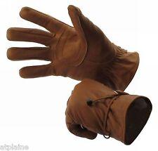 Gants moto cuir doublé INDIANA marron Taille S