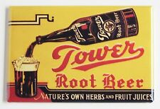 Tower Root Beer FRIDGE MAGNET (2.5 x 3.5 inches) sign cola label bottle cap