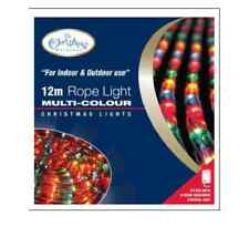 NEW XMAS DECORATION 12m CHASER ROPE LIGHT MULTICOLOUR