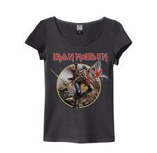 Amplified - Iron Maiden Trooper Logo Damen T-Shirt (Grau) (S-XL)