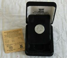 More details for isle of man 1987 piedfort silver proof viking pound - coa/boxed