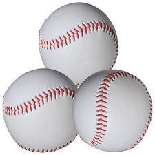 """MFH Baseball """"Basic"""" 5 OZ Softball 3er Pack Syntex Kork-Gummi-Kern weiss/rot"""